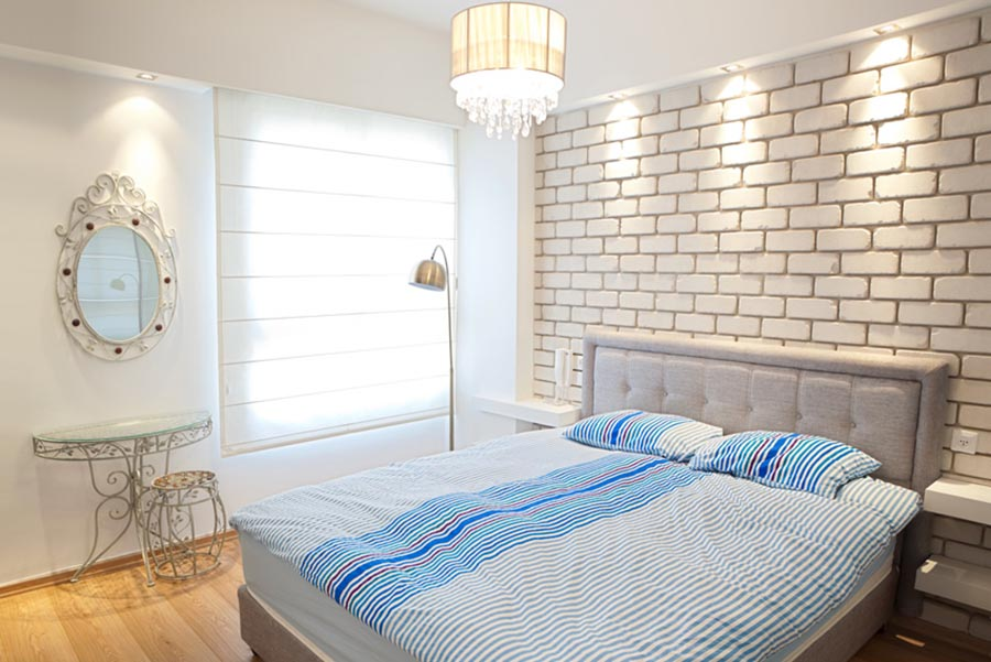 Luxury Bedroom Exposed Brick