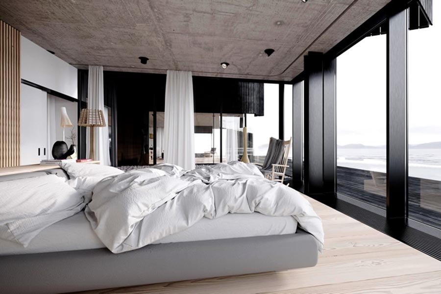 pretty modern master bedrooms. Modern Master Bedroom Beautiful Water View 63  Ideas Pictures Designs Paint Colors