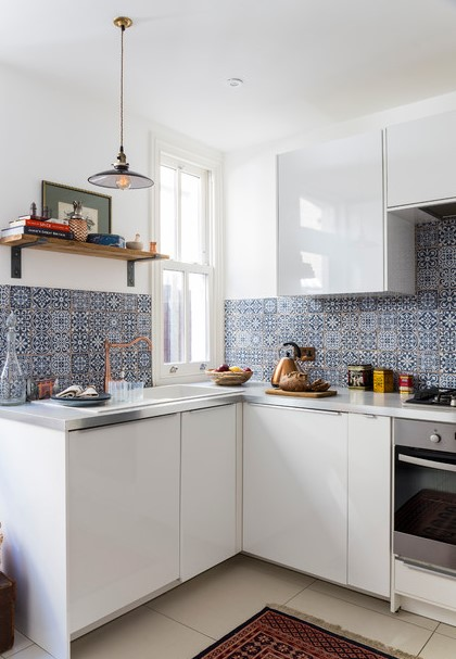 Kitchen Remodel with Eclectic Interior Design Ideas in London