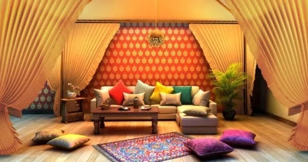 20 amazing living room designs indian style interior for Traditional indian living room designs
