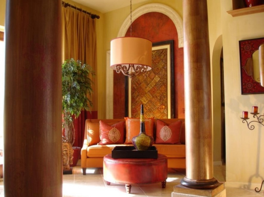 Exotic Elegance U2013 Indian Living Room Design