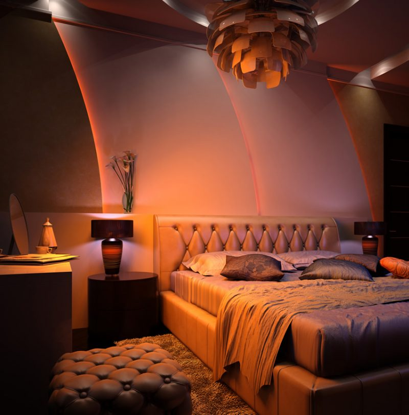 32 romantic bedroom ideas for couples colors and pictures 19230 | modern romantic bedroom with leather bedframe and seat