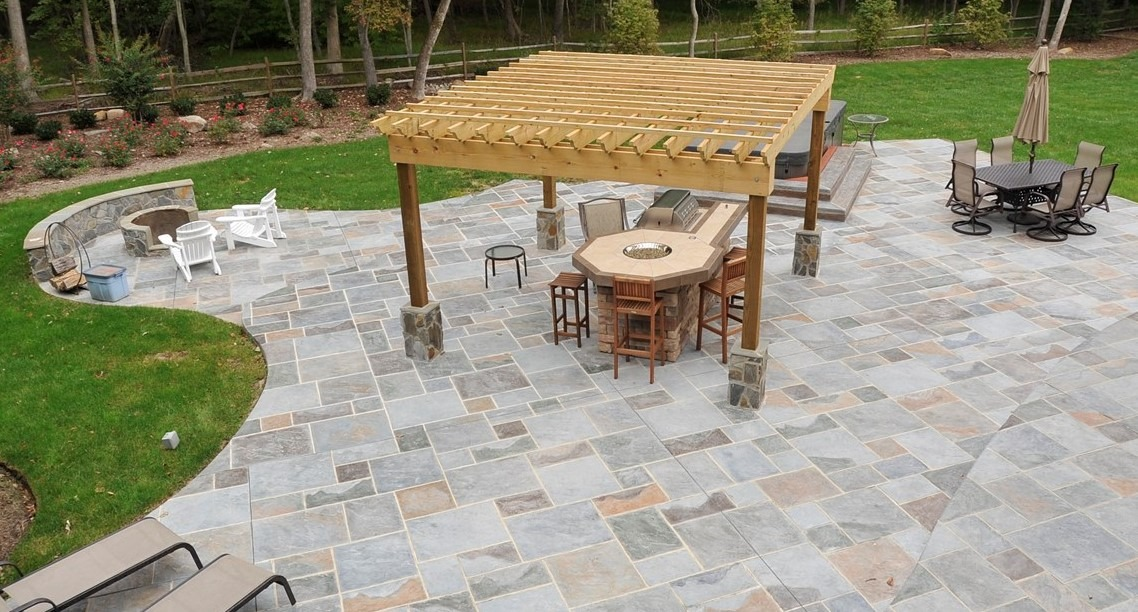 Free form patio with soft edges