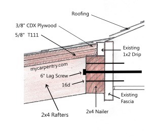 patio cover plans rafter head detail - Patio Cover Plans