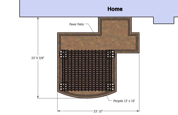 Patio design with pergola