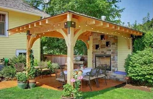 free standing patio cover. 1. Seattle Exterior Free Standing Patio Cover