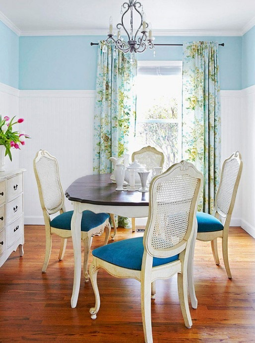 Two Tone Dining Table Design