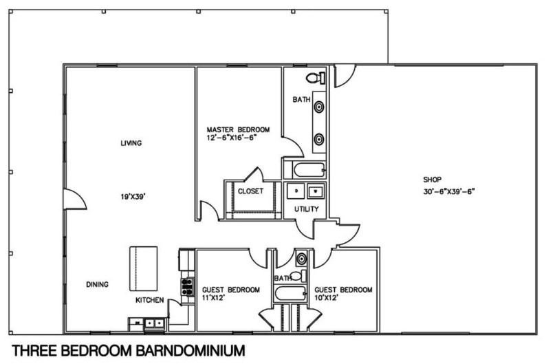 20 barndominium floor plans metal building floor plans for 2 story barndominium floor plans