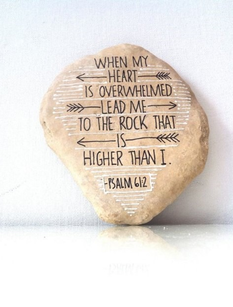 Easy Rock Painting Ideas - Quotes