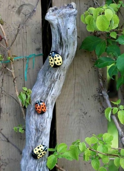 Painted Rock For Your Garden - Bugs
