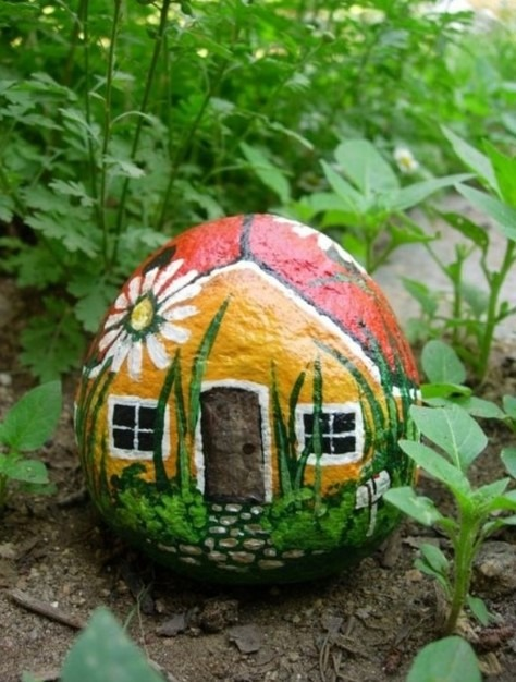 Painted Rock For Your Garden
