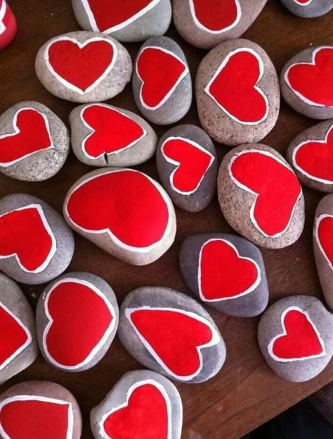 Rock Painting Ideas - Paint A Heart