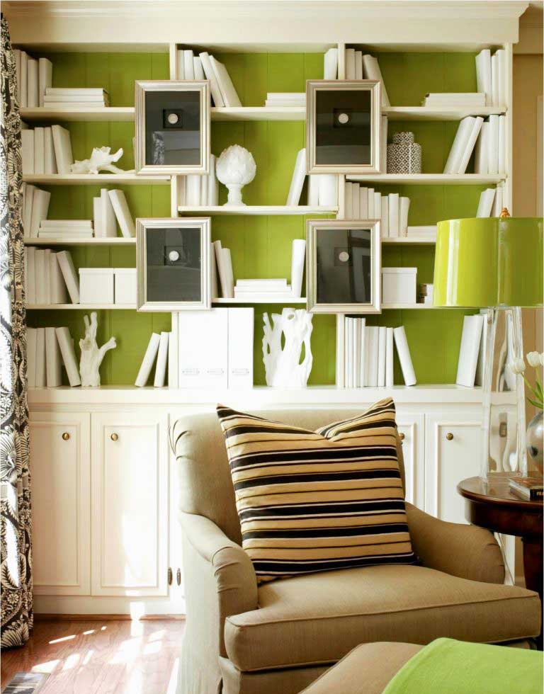 Bookshelves As Accent Wall