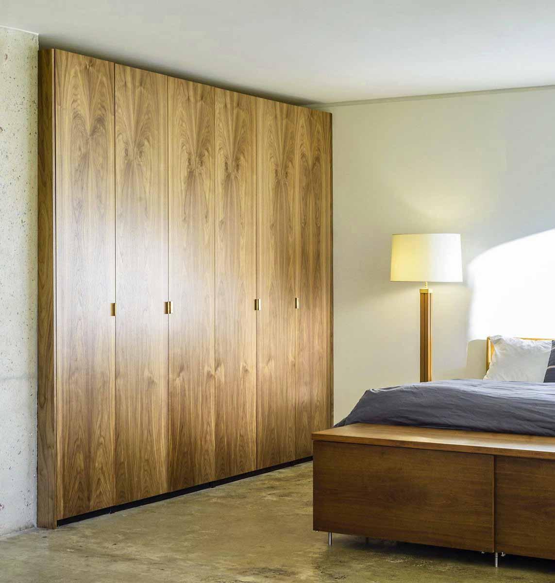 Brown Stained PAX Closet Door