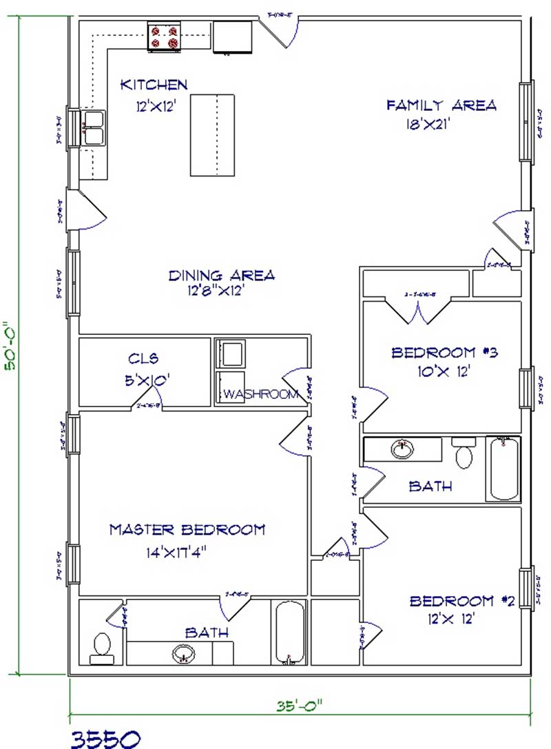 Cozy Barndominium Floor Plan