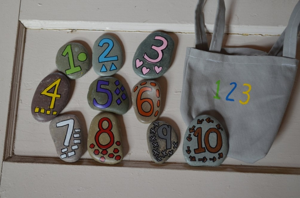 Craft Rocks for Learning Numbers