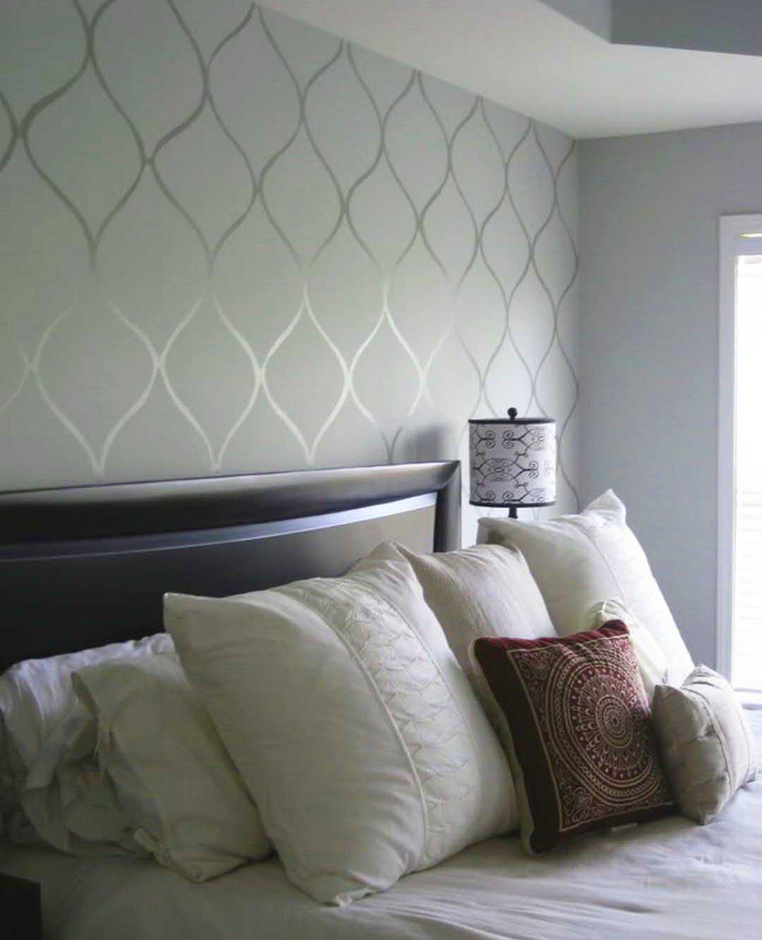DIY Faux Wallpaper Accent Wall