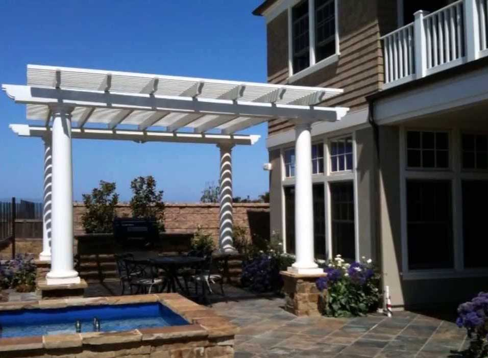 Fiberglass Freestanding Patio Cover
