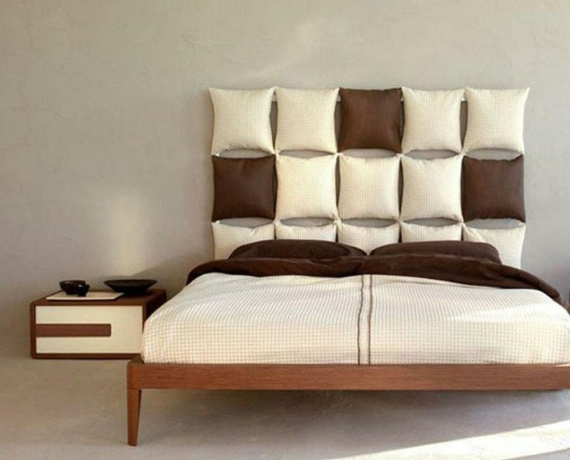 Headboard with Collection of Pillows