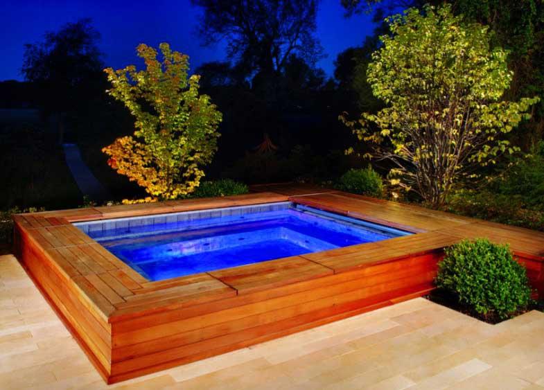 ground above pool japanese pools swimming backyard freshome seating deck around decks put ways prefab places frame archlux ar siding