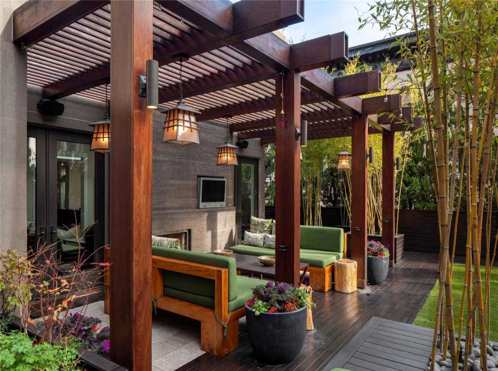 Japanese Style Patio Roof