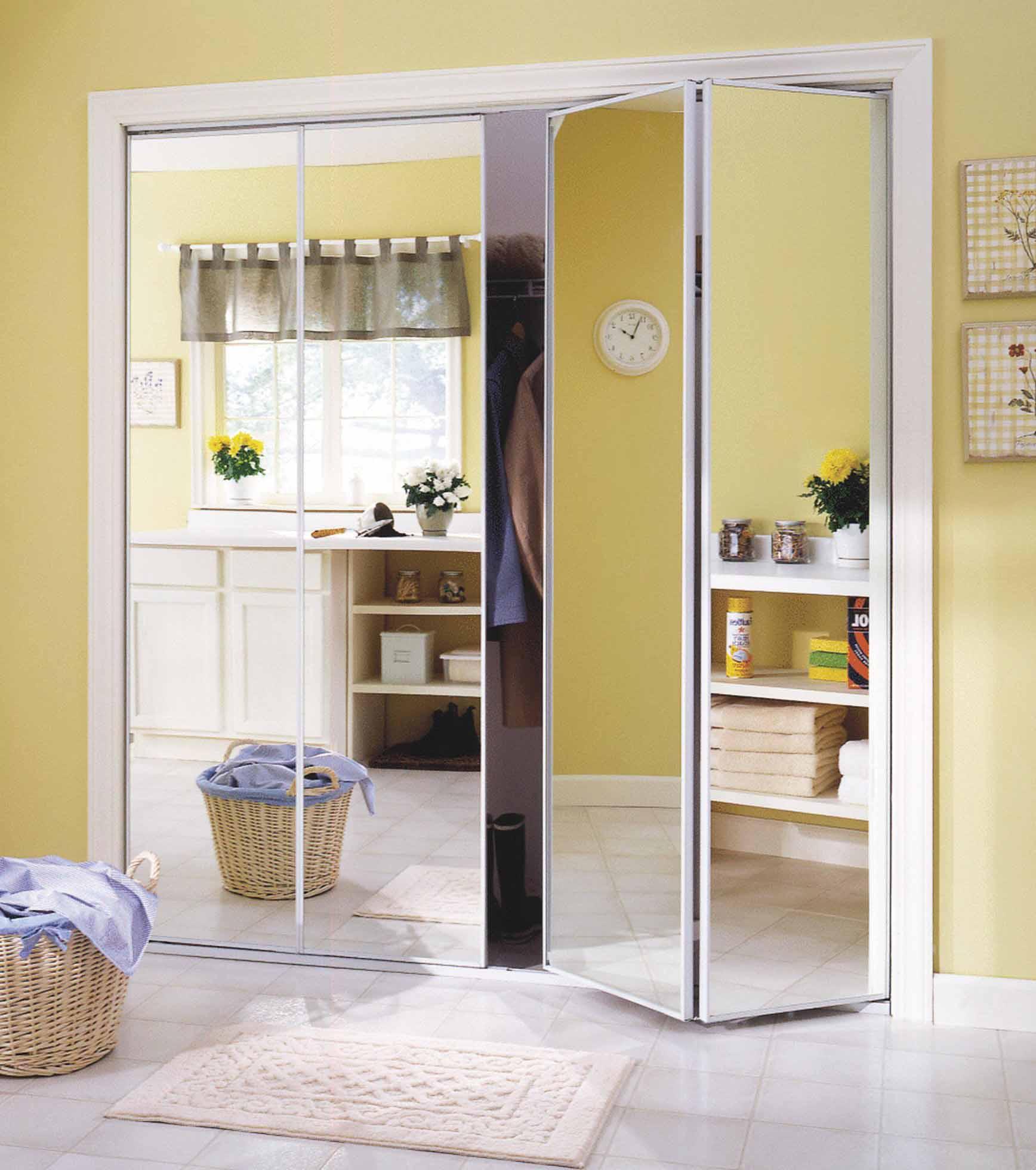 Mirrored Bifold Closet Door