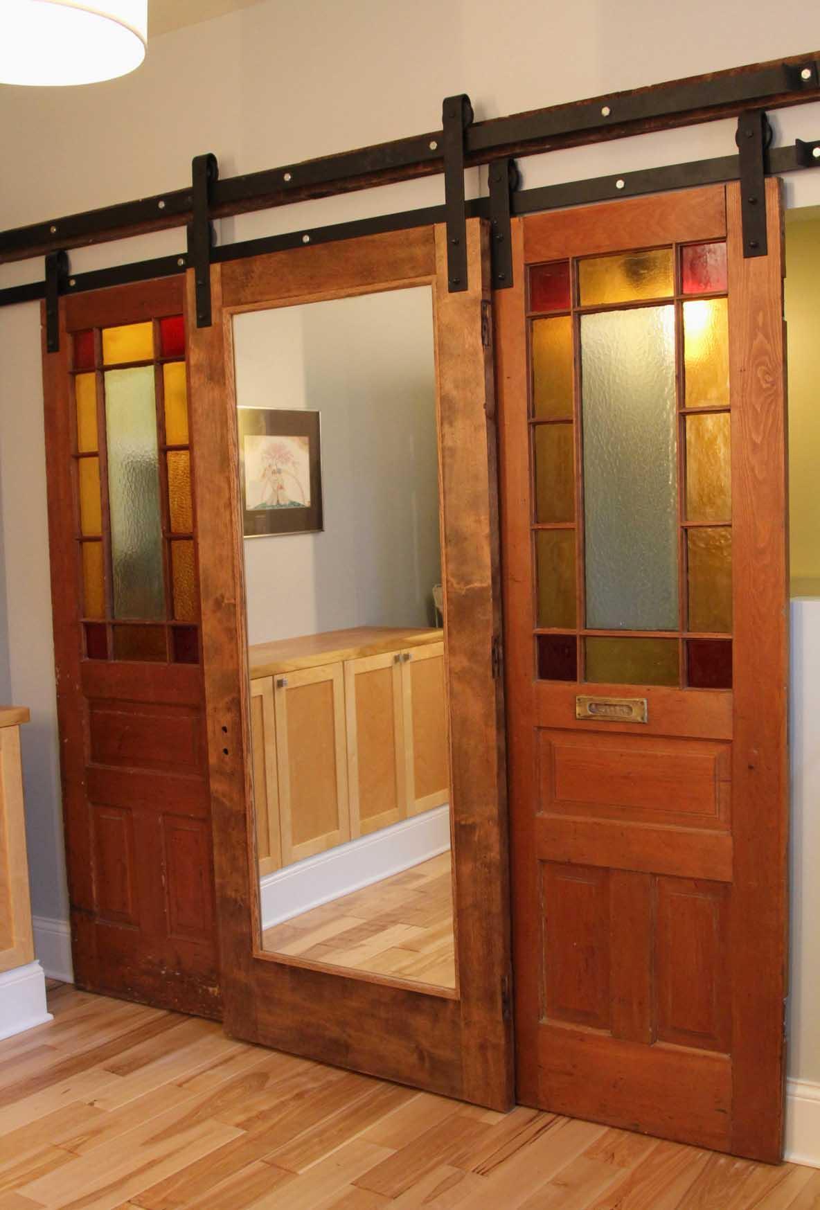 Mirrored Wooden Closet Door