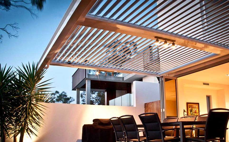 Patio Roof with Sleek Design