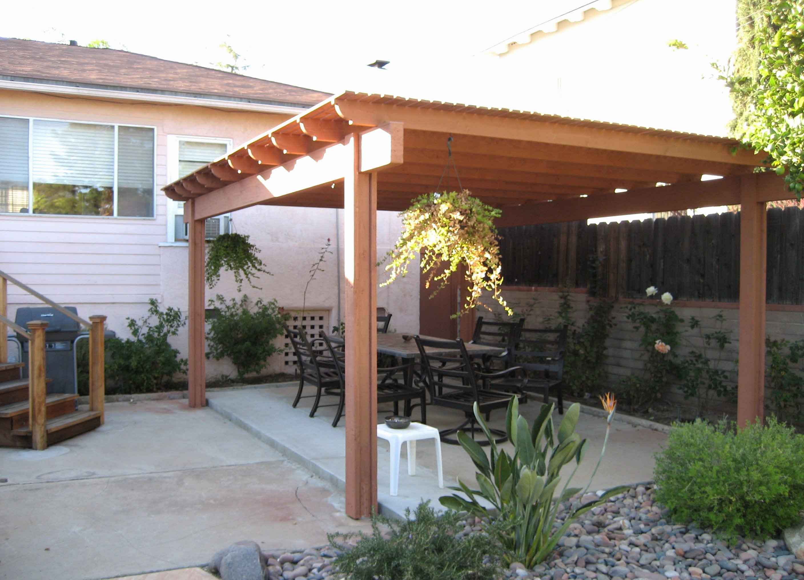 Plastic Freestanding Patio Cover Idea