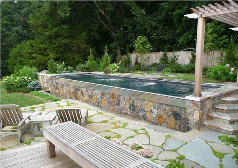 Rustic Above-Ground Pool
