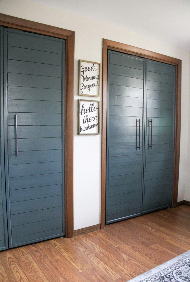 Shiplap Doors for Closet