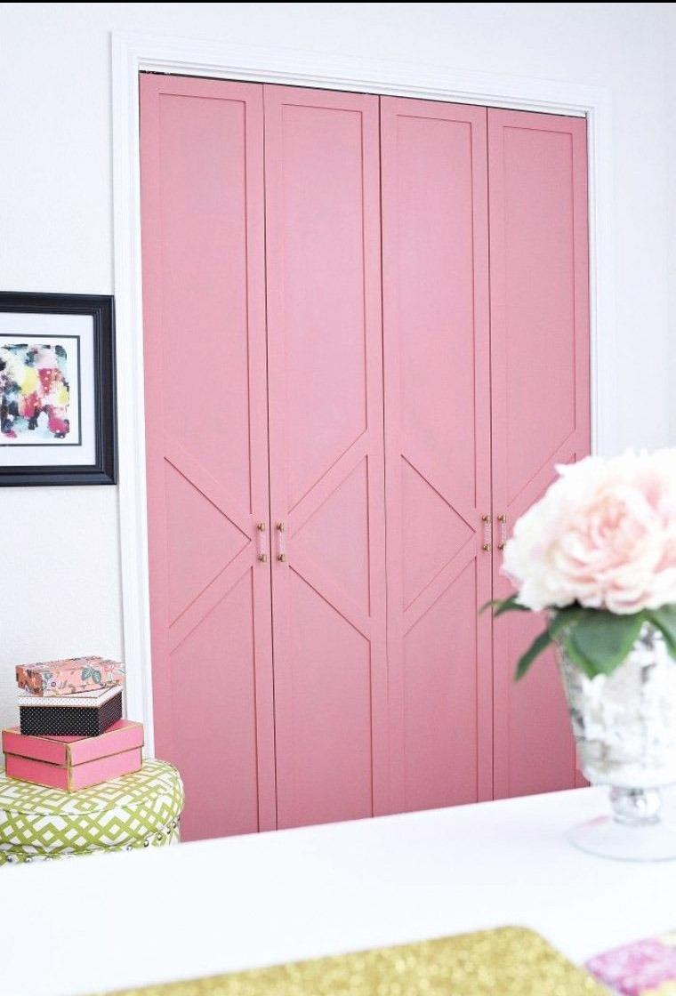 Stunning Pink Closet Door
