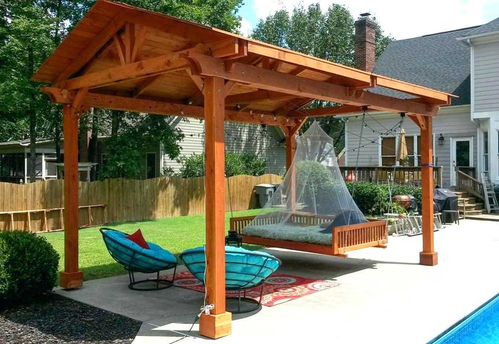 Wooden Freestanding Patio Cover on Budget