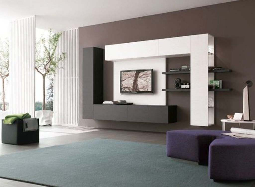 Etonnant Black And White TV Wall Mount Idea