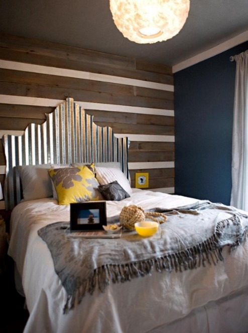 DIY Headboard Ideas Using Metal Roofing