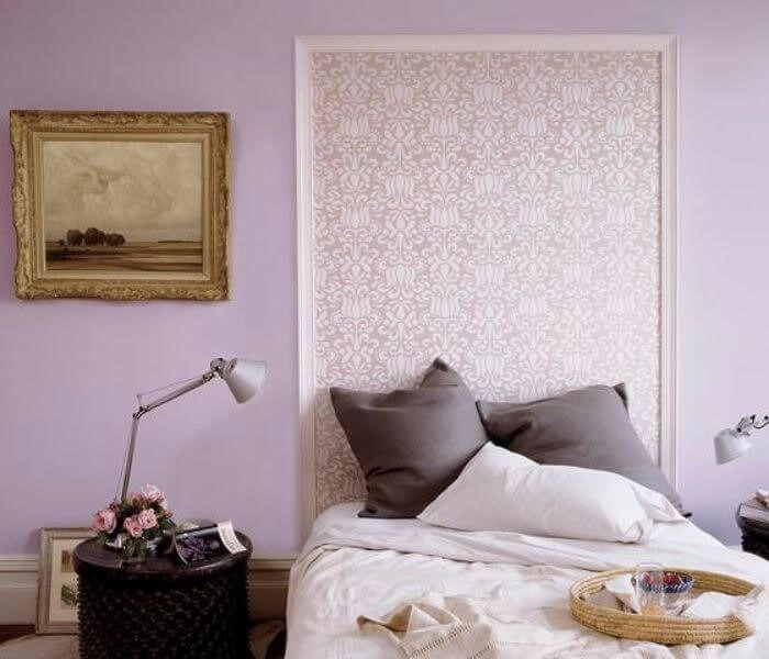 DIY Headboard Ideas with Framed Wallpaper