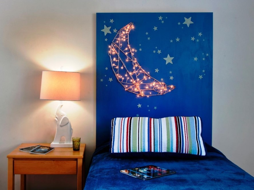 DIY Starry Night Headboard