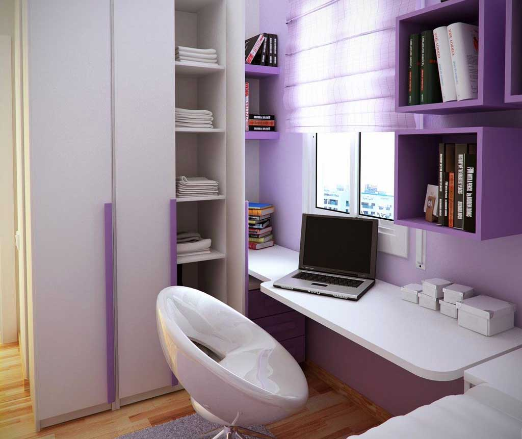 Floating Desk to Save Floor Space