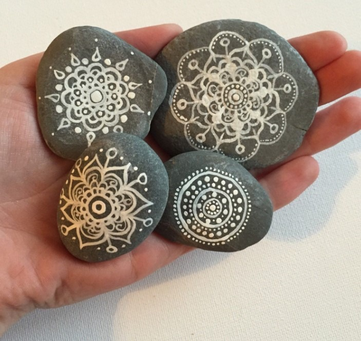 Henna Painted Rocks