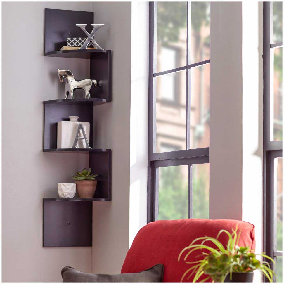 Luxury DIY Corner Shelves