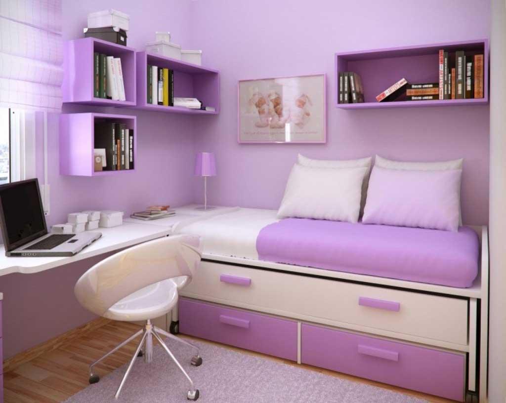 14+ Beautiful Girls Bedroom Ideas for Small Rooms (Teenage Bedroom ...