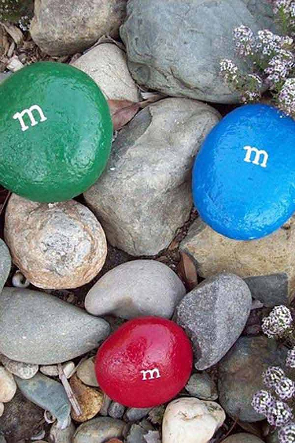 Rock Painted As M&M