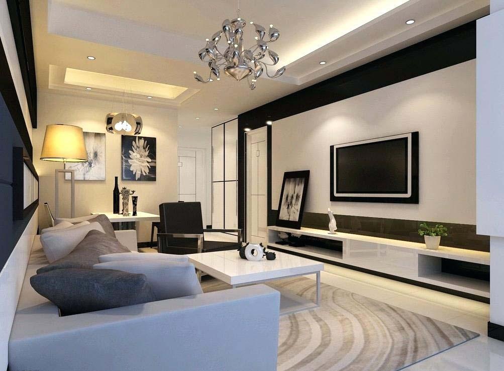 Simple yet Luxurious TV Wall Mount Idea