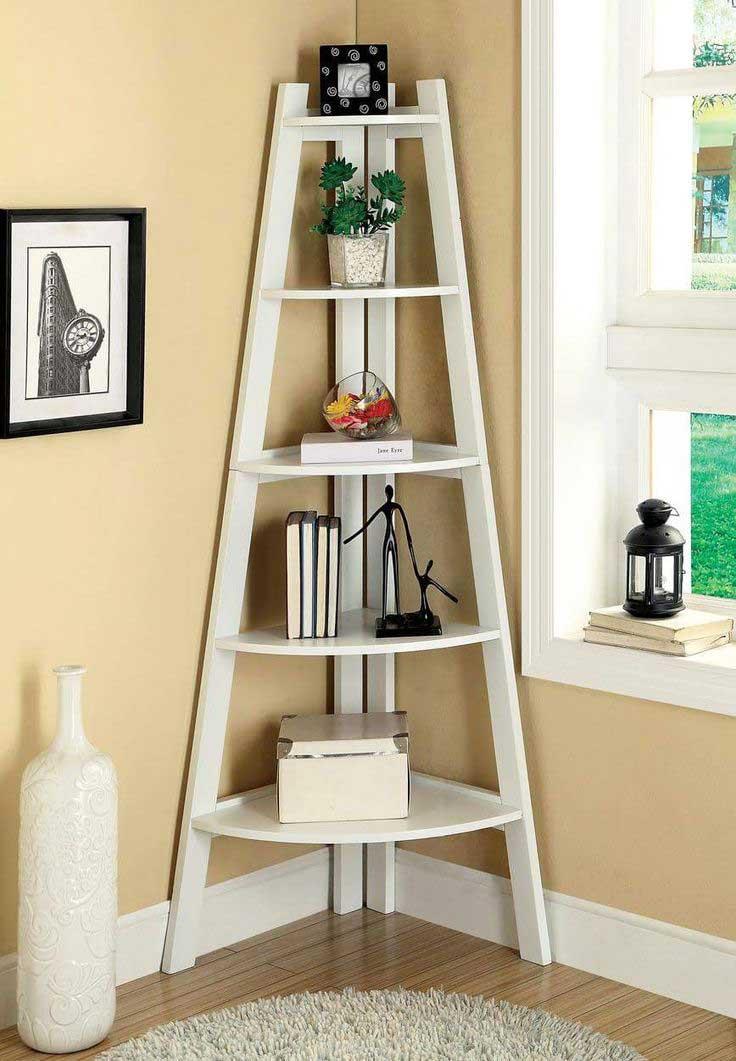 Simply Antique DIY Corner Shelves