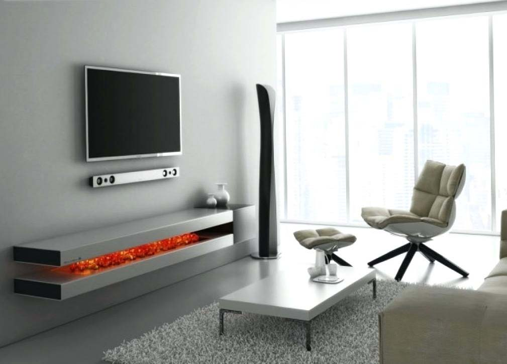 TV Wall Mount For Mid Century Modern Living Room