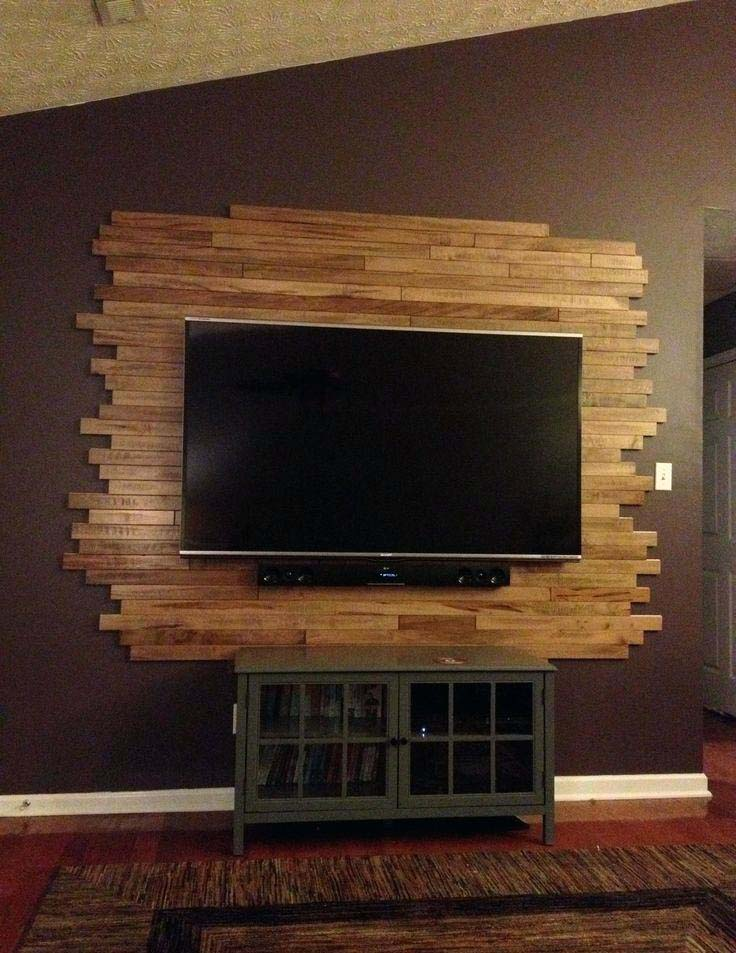TV Wall Mount with DIY Back Panel