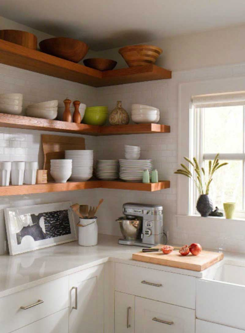 Trendy Open Shelving for Kitchen