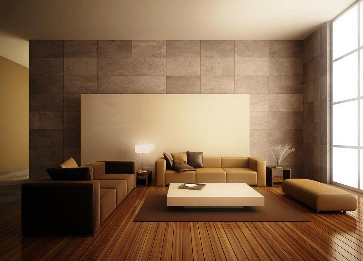 Brown Minimalist Living Room