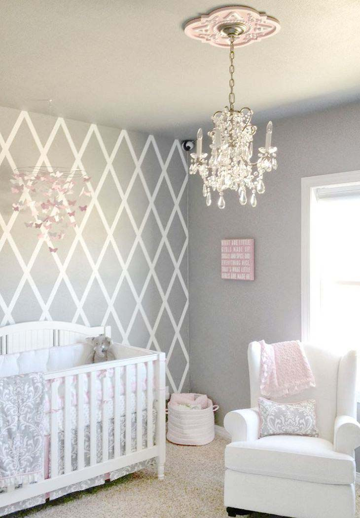 Gray Nursery for Baby Girls