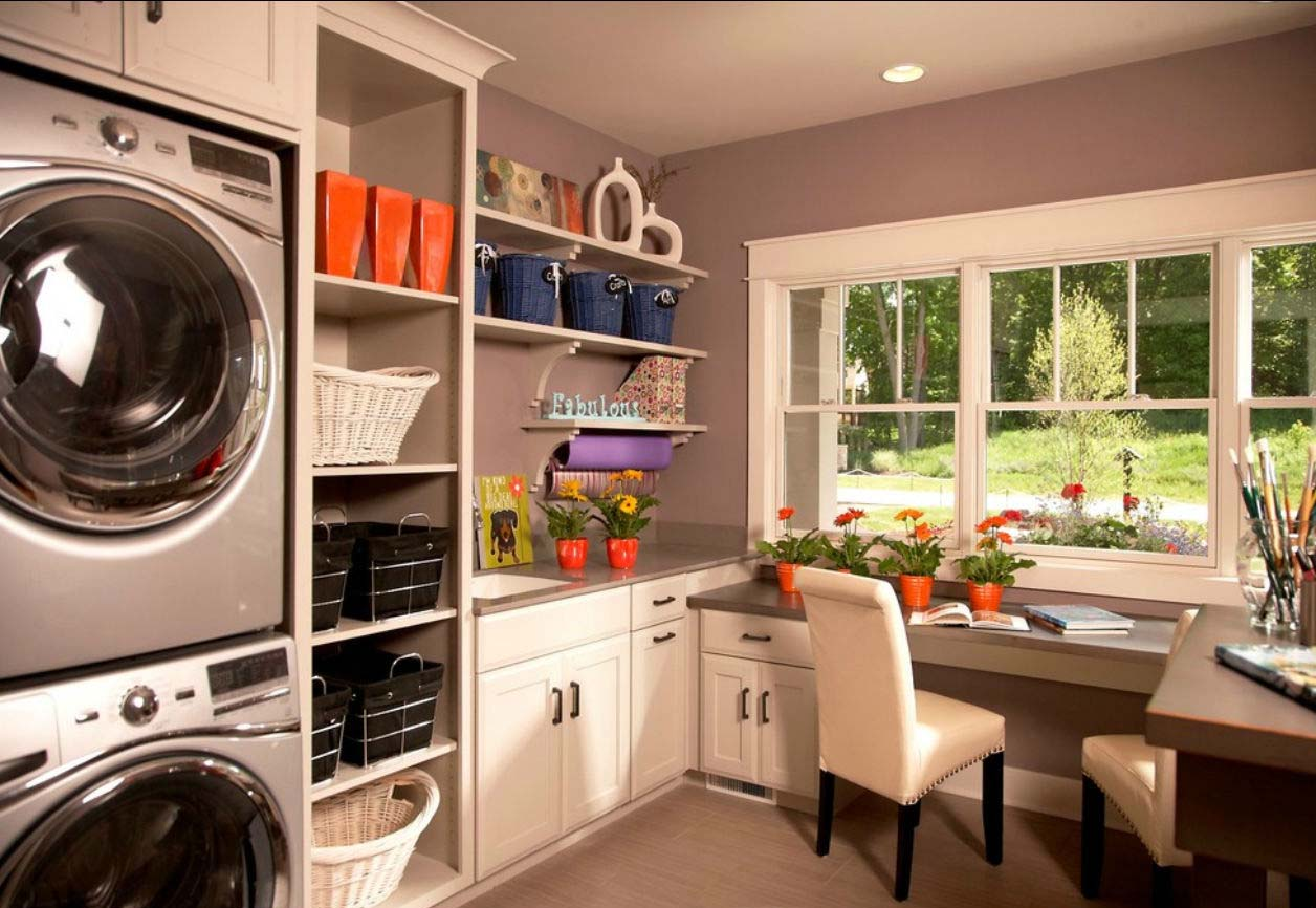 Merging Two Spaces, Study and Laundry Room